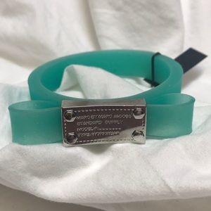 Marc by Marc Jacobs Aqua Rubber Bracelet